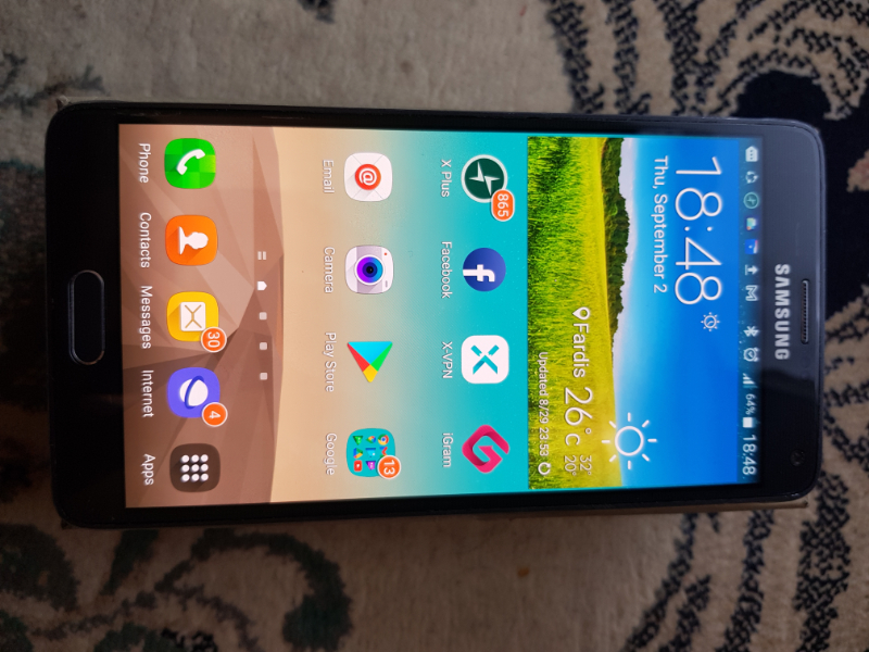 Samsung گوشی سامسونگ نوت 4 32گیگ