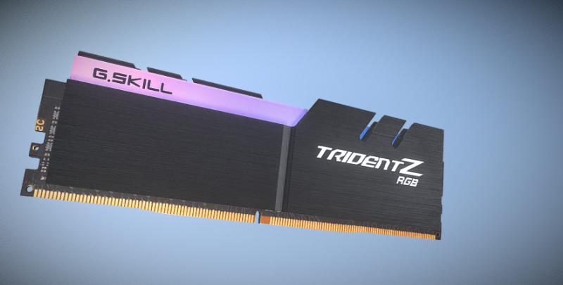 رم دسکتاپ DDR4  3000 مگاهرتز CL16 جی اسکیل سری TRIDENT Z RGB ظرفیت 16گیگابایت