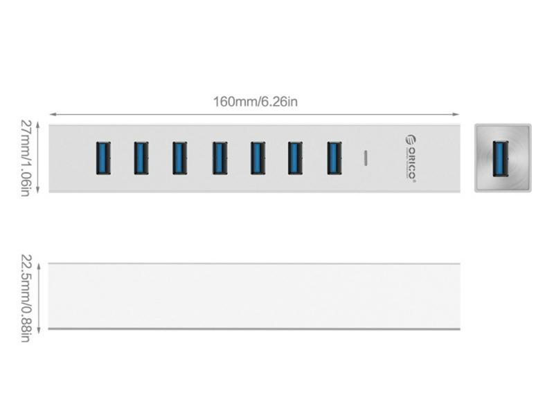 هاب USB 3 0 هفت پورت اوریکو مدل Orico ASH7 U3